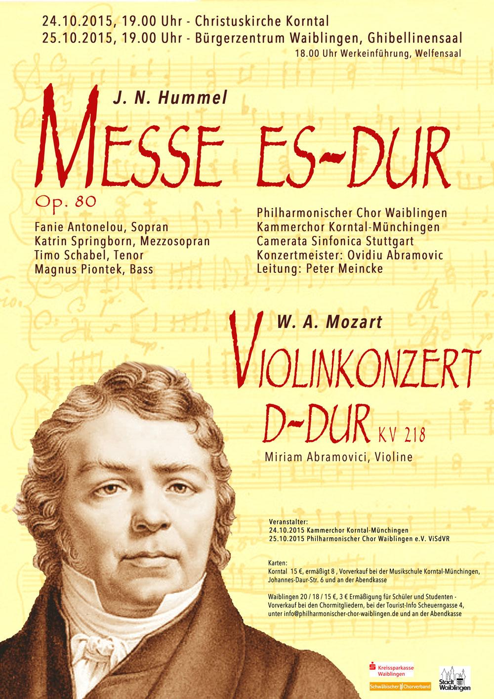 2015 – Messe Es-Dur Hummel